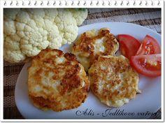 Jedlíkovo vaření: květákové placičky #recipe #czech #kvetak #placicky Czech Recipes, Snack Recipes, Snacks, Cauliflower, Menu, Vegetables, Czech Food, Blog, Diet