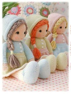 Serpil Demirkol – My WordPress Website'Little Yarn Dolls' knitting pattern.Image gallery – Page 401172279300612744 – Artofit💙 the color combos Knitted Dolls Free, Knitted Doll Patterns, Animal Knitting Patterns, Crochet Dolls, Yarn Dolls, Sock Dolls, Fabric Dolls, Little Cotton Rabbits, Knitted Animals