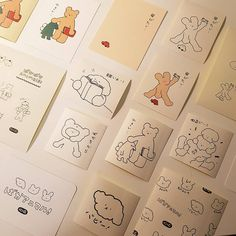 Business Cards Layout, Kawaii Accessories, Korean Aesthetic, Aesthetic Drawing, Aesthetic Stickers, Cute Icons, Stationery Design, Aesthetic Pictures, Sticker Design