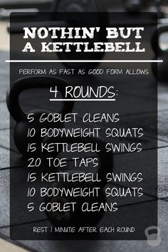 An efficient and effective kettlebell workout that requires a small amount of space, and ONE kettlebell! via @CoconutsKettles