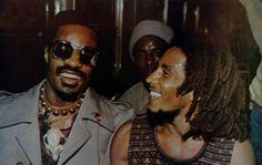 BOB MARLEY with STEVIE WONDER, Kingston, '75...