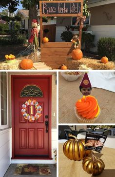 Pumpkin Fall Party Collection - Birthday Party Ideas for Kids Little Pumpkin Party, Pumpkin Patch Party, Baby In Pumpkin, Pumpkin Birthday Parties, Pumpkin First Birthday, Birthday Gifts For Girls, Halloween Gifts, Halloween Themes, Pumpkin Painting Party