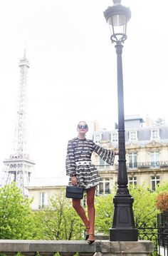 Atlantic Pacific in Paris Stunning Dresses, Nice Dresses, What To Wear To A Wedding, Atlantic Pacific, Kinds Of Clothes, Women's Summer Fashion, Green Stripes, Parisian, Cool Style