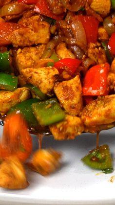 Veg Recipes, Curry Recipes, Indian Food Recipes, Asian Recipes, Chicken Recipes, Cooking Recipes, Healthy Recipes, Chicken Jalfrezi Recipe, International Recipes