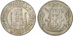 z okresu Wolnego Miasta Gdańska / from the Free City of period Danzig, Poland, Period, Coins, Personalized Items, Free, Inspiration, History, Memories