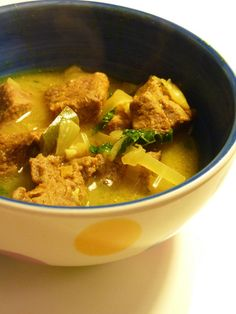 Ginger-Lamb Coconut Curry by Eve Turow, npr as adapted from Mangoes & Curry Leaves: Culinary Travels through the Great Subcontinent  #Lamb #Curry #Ginger #Healthy