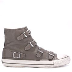 bc74390801 Ash Virgin Leather Buckle Trainers - Elephant (275 SGD) ❤ liked on Polyvore  Ash