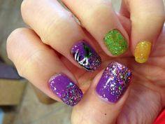Mardi Gras nails!