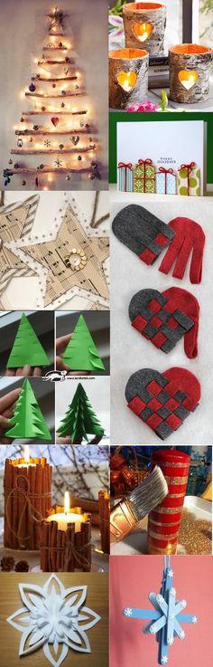 (in French) - Décoration de #Noël: cliquez sur l'image pour accéder à plein d'astuces et d'adresses web pour réaliser des projets soi-même.