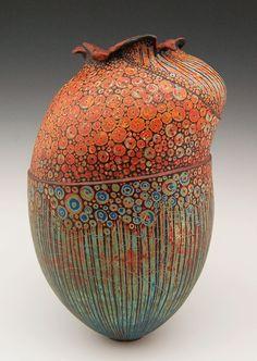 """""""A Sonata Before Dinner"""" Melanie Ferguson - clay Glass Ceramic, Ceramic Clay, Ceramic Pottery, Pottery Art, Slab Pottery, Pottery Studio, Ceramic Bowls, Kintsugi, Sculptures Céramiques"""
