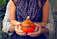 Pumpkin birth announcement.
