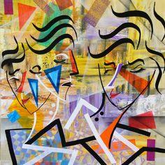Trio     73x60cm Technique Mixte sur Toile Perfect Image, Cool Photos, Photo, Pics, Cool Pictures, Painting, Love Photos, Art, Perfect Photo