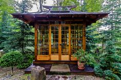 Good Looking Hardware Hut mode Other Metro Asian Landscape Decorating ideas with art glass axis mundi bamboo garden Barn Stone crystal custom stained glass dry river