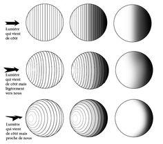 comment dessiner ombre et lumiere Basic Drawing, Drawing Skills, Drawing Lessons, Art Lessons, Drawing Tools, How To Draw Shadow, Shadow Drawing, Pencil Art, Pencil Drawings