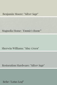 Home Interior Planning Projects. Want to make your household seem like new? Would like to enhance the appeal and sale ability of the home? It is a lot easier and less expensive than it might seem. Sage Green Bedroom, Sage Green Paint, Green Paint Colors, Living Room Green, Bedroom Paint Colors, Silver Sage Paint, Sage Green Walls, Sage Color, Color Blue