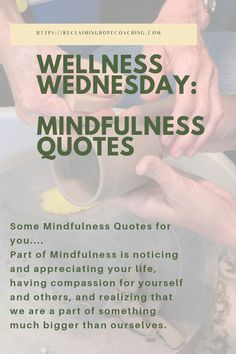 Part of Mindfulness is noticing and appreciating your life, having compassion for yourself and others, and realizing. Some Mindfulness Quotes for you. Happy Wednesday Quotes, Good Morning Wednesday, Wednesday Motivation, Sunday Quotes, Daily Quotes, Life Quotes, Weekend Quotes, Writing Quotes, Writing A Book