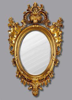 Znalezione obrazy dla zapytania golden mirror baroque