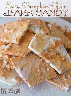Pumpkin Spice Bark Candy
