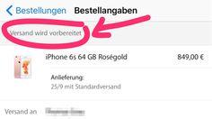 """iPhone 6S: Versand wird vorbereitet! - https://apfeleimer.de/2015/09/iphone-6s-versand-wird-vorbereitet - Apple versendet iPhone 6S und iPhone 6S Plus. Die ersten neuen iPhone 6S wechseln aktuell vom Status """"Bestellung wird bearbeitet"""" zu """"Versand wird vorbereitet"""". Seit dem 12.09.2015 um 9 Uhr kann das iPhone 6S ohne Vertrag im Apple Online Store vorbestellt werden –..."""