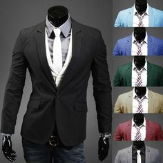 Hot Sale 2016 New Design Mens Brand Blazer Jacket Coats,Casual Slim Fit Stylish Blazers For Men,Suits Size M~XXL 8 Colors