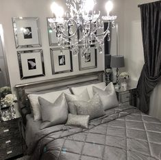 stylish bedroom chandeliers ideas glam home decor styles Glam Bedroom, Stylish Bedroom, Bedroom Sets, Home Bedroom, Modern Bedroom, Bedroom Furniture, Bedroom Decor, Luxury Furniture, Luxury Bedroom Design