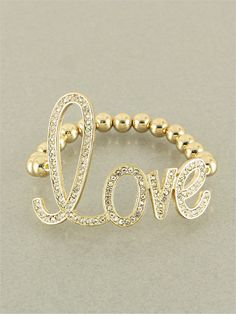 P.S. I Love You More Boutique   Love Big Bracelet in Gold   Online Store Powered by Storenvy
