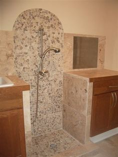 Dog Shower Bath Mud Room Stone Pebbles M Design, Pictures, Remodel, Decor and Ideas