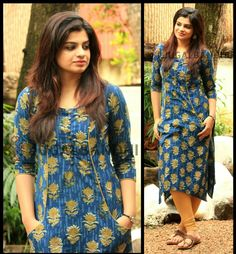 Definitely worth a try. Kurti Back Neck Designs, Kurti Sleeves Design, Kurta Neck Design, Dress Neck Designs, Blouse Designs, Salwar Neck Patterns, Salwar Pattern, Dress Patterns, Churidar Designs