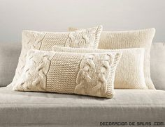 Italian Wool & Alpaca Knit Pillow Cover Collection whole collection for bedroom Sweater Pillow, Knit Pillow, Pillow Room, Bed Pillows, Cushion Pillow, Crochet Pillows, Knitted Cushions, Knitted Blankets, Cushion Covers