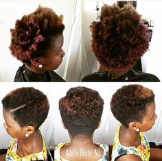 Before & After! Big chop, Tapered cut, 4 C hair