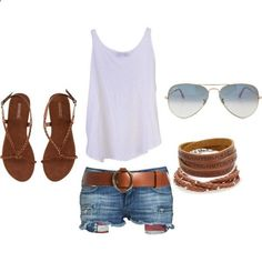 Not that shorts like this would look good in me at all, but it's such a cute laid back outfit.
