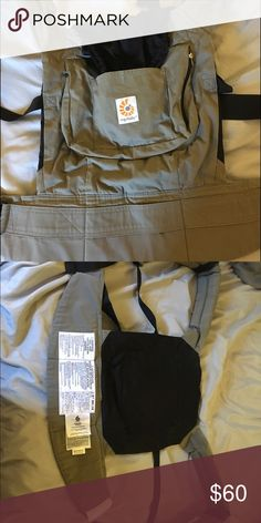 Aussie Khaki original Ergo baby carrier In excellent used condition- Aussie khaki ergo baby carrier. This carried can be used as. Front or back carrier with a weight limit up to 45 pounds. Ergo Accessories