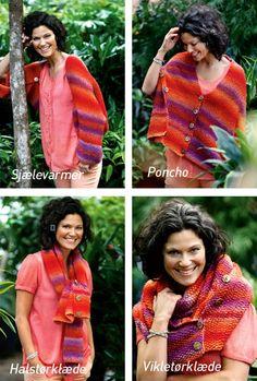 Dette smarte sjal kan både bruges som sjælevarmer, poncho, halstørklæde og vikletørklæde.