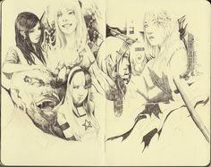 Moleskine Pencil Faces Practice by FinalKnight6.deviantart.com on @deviantART