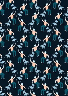 Pattern People by Ana Seixas, via Behance