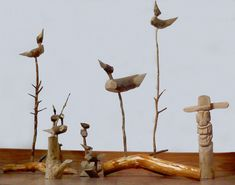 Korean Crafts, Design Seeds, Ikebana, Easy Projects, Collage Art, Birds, Sculpture, Painting, Animals