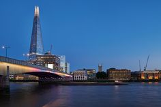 historic landmarks of river thames - the millennium, southwark, cannon street and london bridges - are lit up in the first phase of illuminated river. Bridges Architecture, Marine Engineering, Millennium Bridge, Famous Bridges, London Bridge, River Thames, Public Art, Westminster, American Artists
