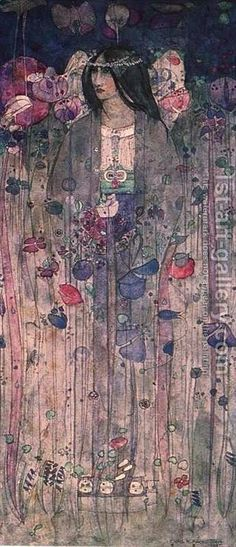 Art Nouveau Charles Rennie Mackintosh, In Fairyland, 1897 Art And Illustration, Illustrations, Charles Mackintosh, Charles Rennie Mackintosh Designs, Glasgow School Of Art, Inspiration Art, Art Graphique, Gustav Klimt, Arts And Crafts Movement