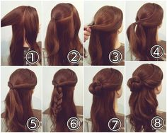Best hairstyle for round face short neck bamboo new hairstyle,women haircuts curly short women hair color red dyes,funky hairstyles easy wedding hairstyles half up half down. Work Hairstyles, Braided Hairstyles, Updo Styles, Short Hair Styles, Hair Arrange, Hair Dos, Prom Hair, Hair Inspiration, Hair Makeup