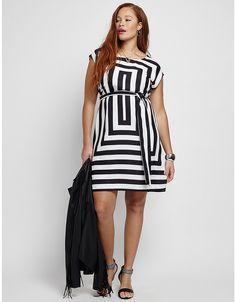 Square Print Sheath Dress | Lane Bryant
