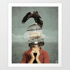 metaphorical assistance Art Print by Seamless - $15.00