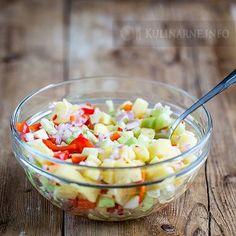 Sałatka śledziowa z buraczkami – Przepisy kulinarne ze zdjęciami Fruit Salad, Acai Bowl, Potato Salad, Potatoes, Breakfast, Ethnic Recipes, Food, Pineapple, Acai Berry Bowl