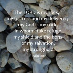 My favorite bible verse. The LORD is my rock, my fortress and my deliverer; my God is my rock, in whom I take refuge, my shield and the horn of my salvation, my stronghold. Bible Verses Quotes, Bible Scriptures, Faith Quotes, Encouraging Verses, Beautiful Words, Soli Deo Gloria, Life Quotes Love, Scripture Art, Praise The Lords