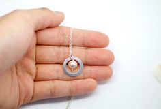 sterling karma circle necklace small delicate dainty by AiryLoft, $26.00