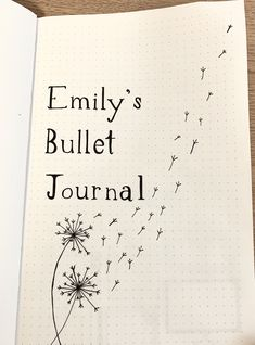 Bullet journal introduction page! Finally starting my bullet journal first page with a dandelion cover theme<br> Bullet Journal Première Page, Bullet Journal Inspo, Future Log Bullet Journal, Self Care Bullet Journal, Bullet Journal Banner, Organization Bullet Journal, Bullet Journal Quotes, Bullet Journal Aesthetic, Bullet Journal Notebook
