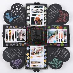 DIY Explosion Gift Card Pot Mason Diy, Mason Jar Crafts, Bottle Crafts, Boite Explosive, Album Photo Scrapbooking, Diy Scrapbook, Handmade Scrapbook, Love Box, Diy Gifts For Boyfriend