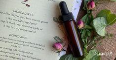 Coffee Rose Undereye Serum (Botanical Skin Care Recipe)