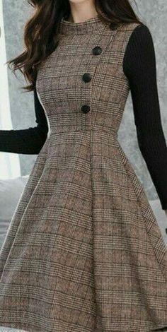 Stylish Dresses For Girls, Stylish Dress Designs, Elegant Dresses, Stylish Outfits, Cute Dresses, Beautiful Dresses, Casual Dresses, Korean Fashion Dress, Indian Fashion Dresses