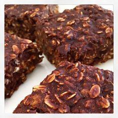 Cacao & Banana Porridge Squares | Livia's Kitchen