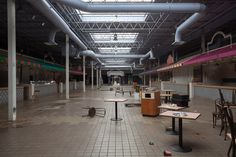 Completely Surreal Photos Of America's Abandoned Malls: Woodville Mall: Northwood, Ohio via detroiturbex.com